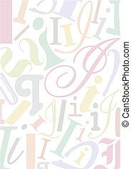 pastell, colorato, lettera