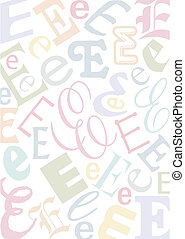 pastell colored letter E - background with the letter E in...
