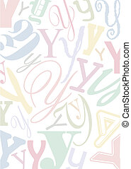 pastell colored letter Y - background with the letter Y in...