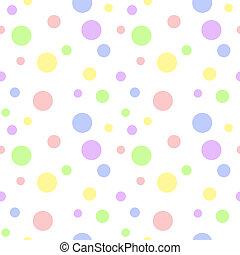 pastell, multi, polka, seamless, punkt