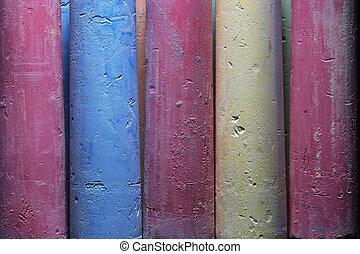 pastelli, riprese ravvicinate, disegno, colorito