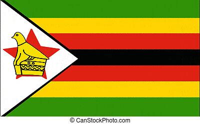 pastello, bandiera zimbabwe, disegno