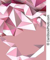 pastello, banner., colorare, astratto, moderno, fondo., geometrico, triangoli
