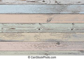 pastello colorato, struttura legno, o, fondo, assi