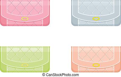 pastello, femmina, borse, toni