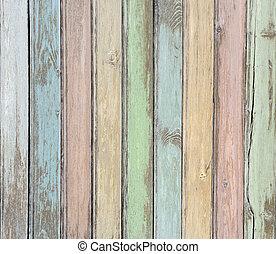 pastello, legno, assi, fondo, colorato