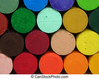 Pastels closeup