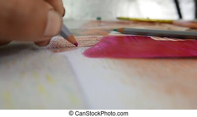 pastels, dessin
