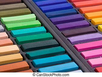 pastels, doux, haut fin