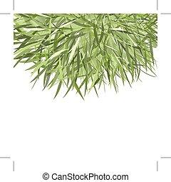 pasto o césped, marco, verde, para, su, diseño