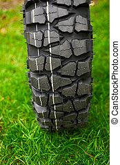 pasto o césped, verde, neumático