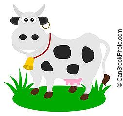 pasto, vaca leiteria