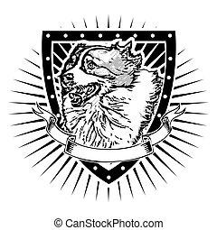 pastor, australiano, escudo