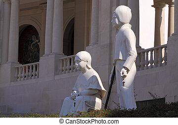 pastor, fatima, niños, estatua