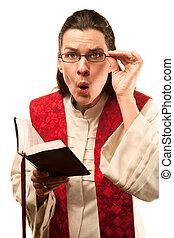 Pastor finding something shocking in the Bible