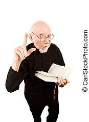 Pastor giving a fiery sermon - Senior pastor delivering...