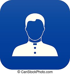 Pastor icon digital blue for any design isolated on white...