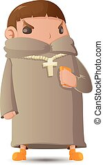 Pastor Man Character Cartoon Graphic Vector