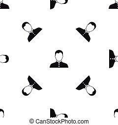 Pastor pattern seamless black - Pastor pattern repeat...
