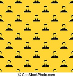 Pastor pattern seamless vector repeat geometric yellow for any design
