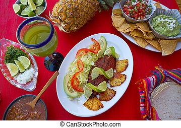Pastor recipe fish from Mayan Mexico with mexican sauces