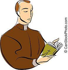 pastor - vector illustration profession