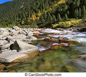 Pastoral Krimml waterfalls