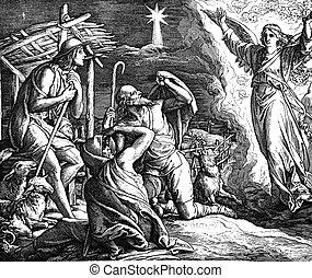 pastores, aparece, ángel
