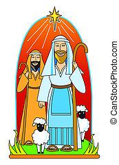 pastori, stella, seguire