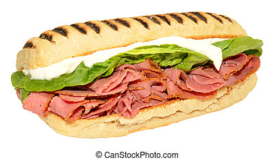Pastrami Panini Sandwich - Fresh pastrami meat filled Panini...