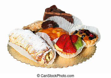 Pastries isolated