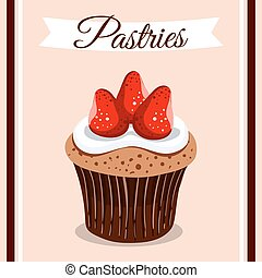 Pastries Strawberry Cupcake