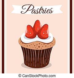 Pastries Strawberry Cupcake