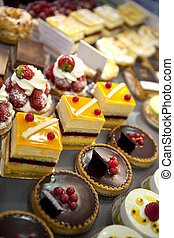 Pastries - Various cakes in a bakery