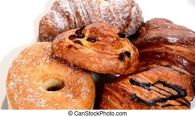 Pastry. Croissants isolated