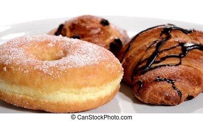 pastry., croissanty, odizolowany