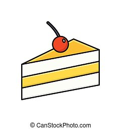 pastry  flat color icon