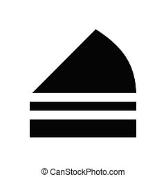 pastry  glyph flat icon