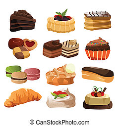 Pastry icons - A vector illustration of pastry icon sets