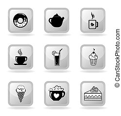 pastry icons over white background vector illustration