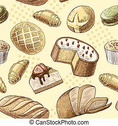 Pastry seamless pattern