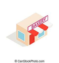 Pastry shop icon, isometric 3d style - Pastry shop icon in...
