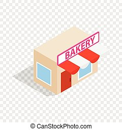 Pastry shop isometric icon 3d on a transparent background...