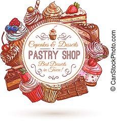 Pastry shop, patisserie emblem - Pastry shop emblem....