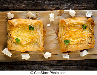 Pastry with cheese
