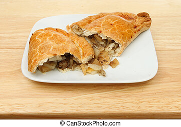 Pasty on a plate