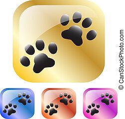 pata, icono de perro