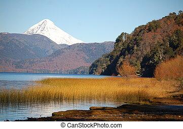 Patagonia´s Lanin Volcano - Snowcovered peak of Lanin...