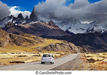 patagonia, fitz, camino, roy, argentina, monte