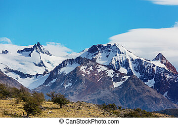 Patagonia landscapes in Southern Argentina. Beautiful ...